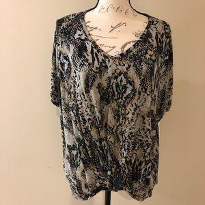 Silverwear Snakeskin print knit T-shirt size XL